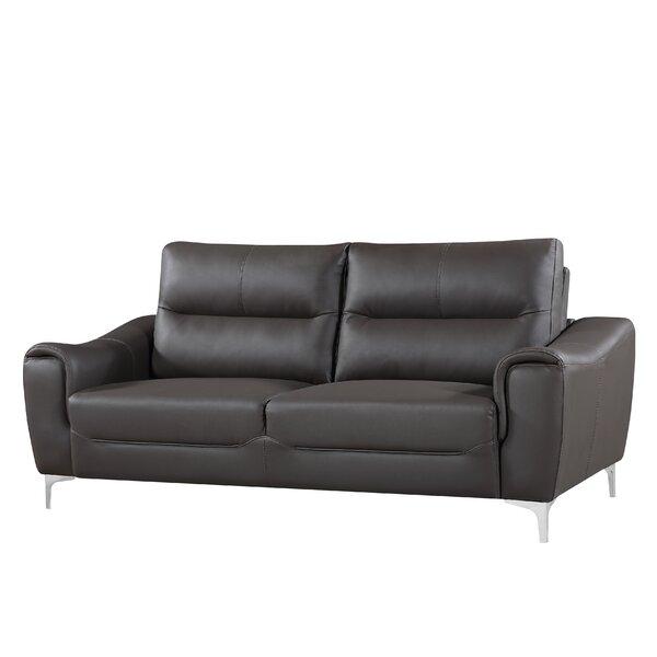 Our Special Malissa Leather Sofa by Orren Ellis by Orren Ellis
