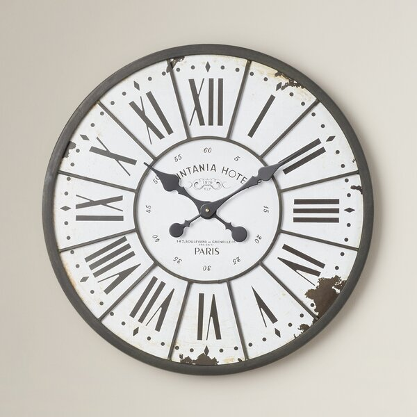 Hartshorn Oversized 24 Wall Clock by One Allium Way