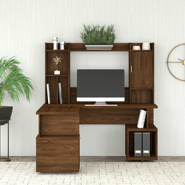 Madison Avenue Reversible L-Shape Desk with Hutch