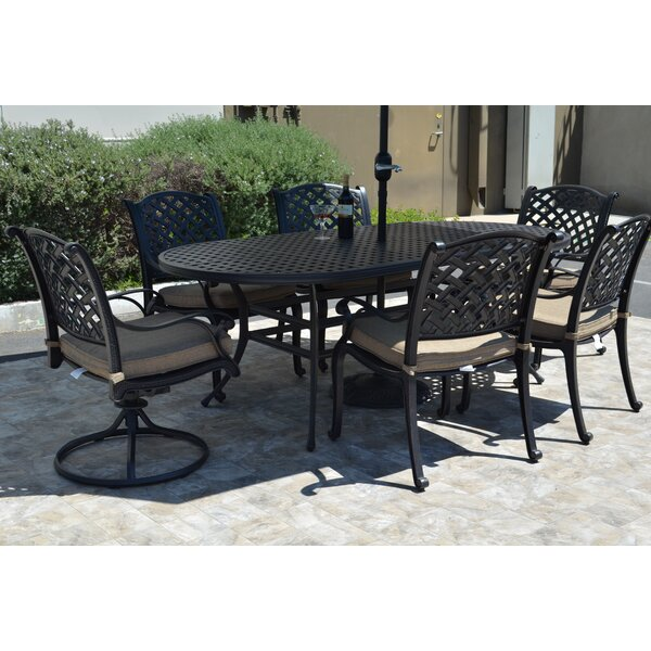 Middleburgh 7 Piece Dining Set with Cushions by Darby Home Co