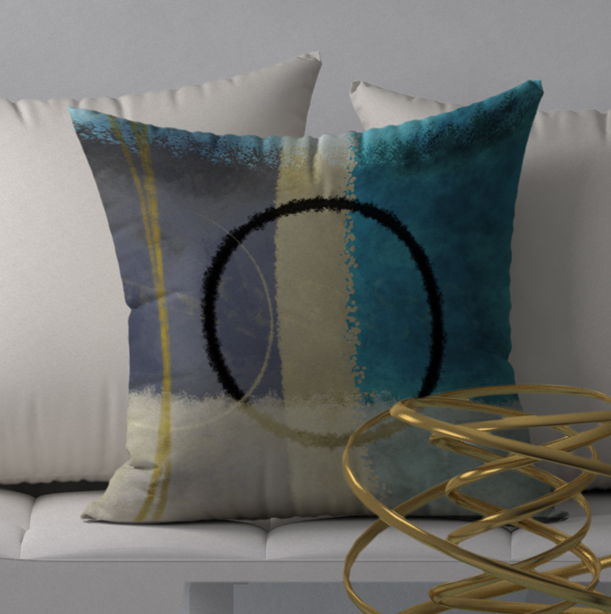 Orren Ellis Sound Pearl Square Pillow Cover Insert Wayfair