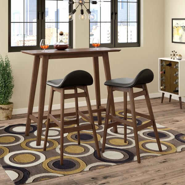 Modern Adriana 3 Piece Pub Table Set By Langley Street Savings