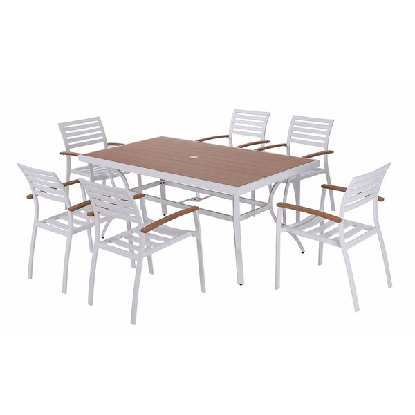 Rumfelt 7 Piece Dining Set with Cushions by Red Barrel Studio