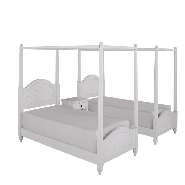 Harrison Traditional Framed Canopy 3 Piece Bedroom Set by Beachcrest Home