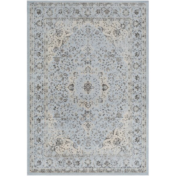Maleisha Blue/Tan Area Rug by Ophelia & Co.