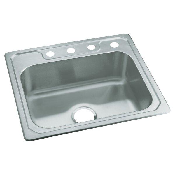 Middleton 25 L x 22 W Self Rimming Single Bowl Kitchen Sink by Sterling by Kohler