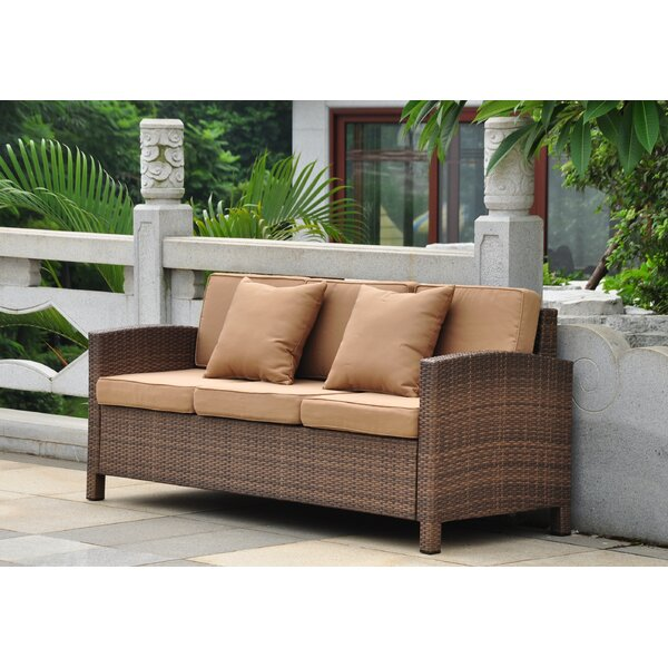 Katzer Patio Sofa with Cushions by Brayden Studio