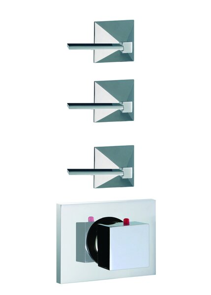 Mp1 Built-In Thermostatic Valve Trim with Three Volume Control Handles by Fima by Nameeks