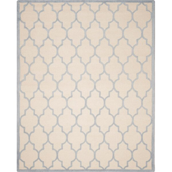 Charlenne Ivory/Light Blue Area Rug by Zipcode Design