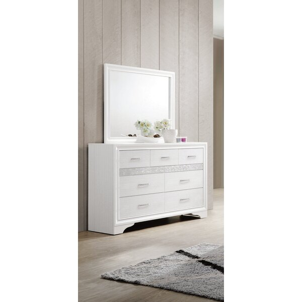Alessandra 7 Drawer Dresser with Mirror by Willa Arlo Interiors