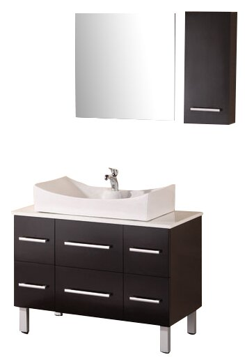 Vivaan 36 Single Bathroom Vanity Set with Mirror by Home Loft Concepts