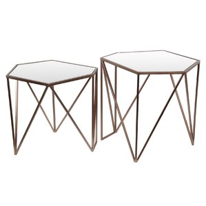 Abate 2 Piece Nesting Tables by Mercury Row