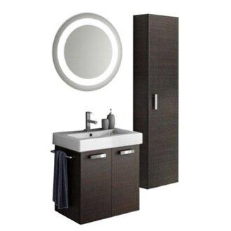 Cubical 24 Single Bathroom Vanity Set with Mirror