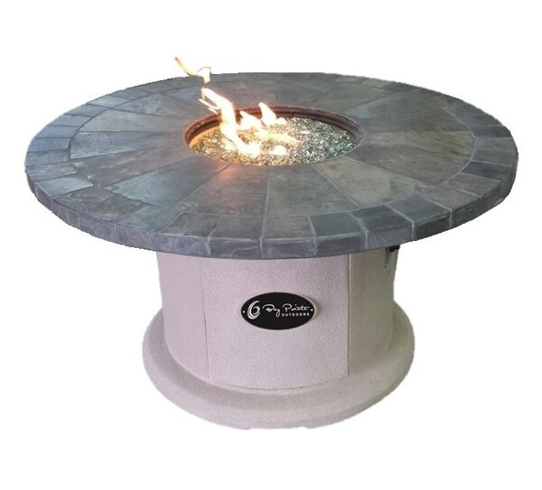 Designer Series Stone Propane Fire Pit Table by BayPointe Outdoors