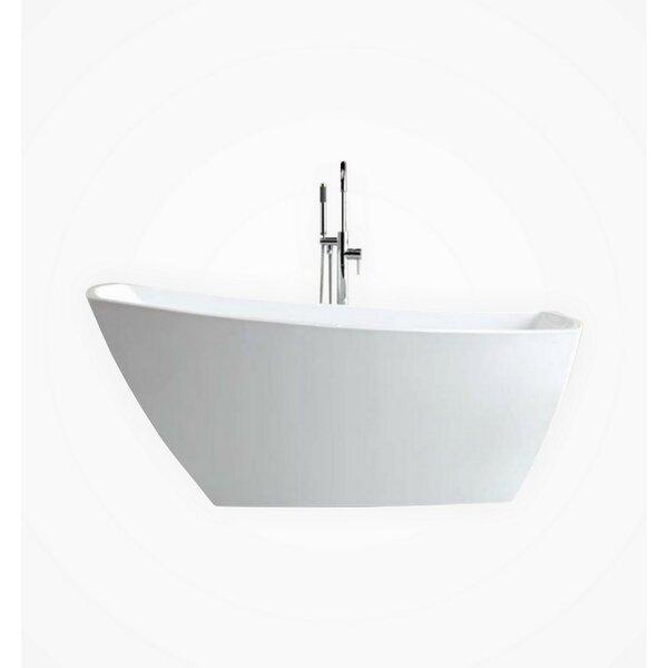 Volta Solato 67 x 32 Freestanding Soaking Bathtub by Kube Bath