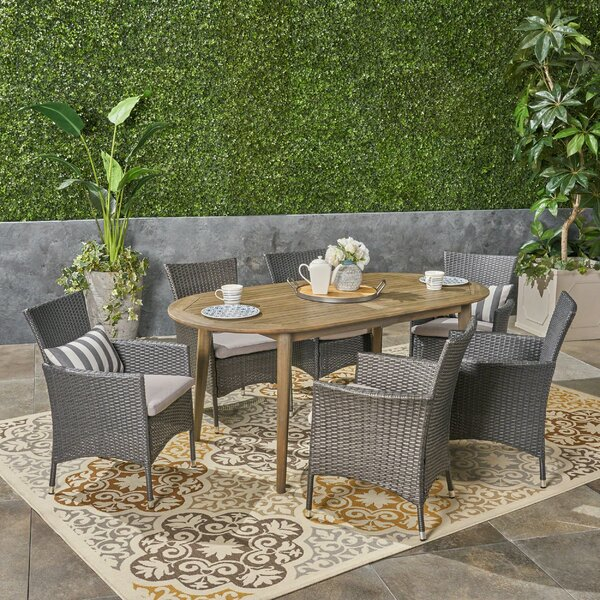 Kalene 7 Piece Dining Set by Gracie Oaks