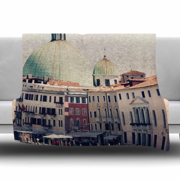Venice 3 by Sylvia Coomes Fleece Blanket by East Urban Home