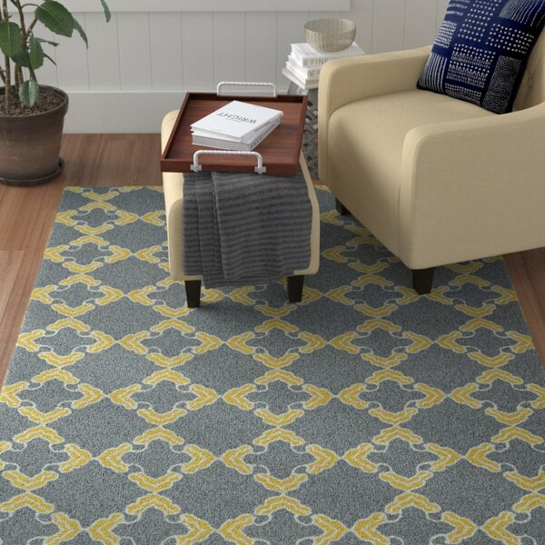 Stepanie Gray Indoor/Outdoor Area Rug by Winston Porter