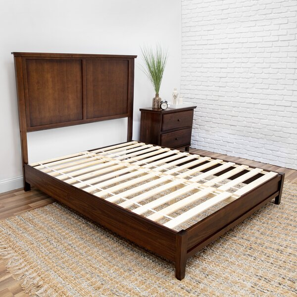 Roxy Pine Platform Bed Charlton Home W000658350