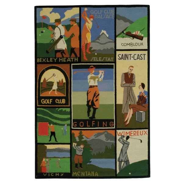 Vintage Posters Golf Collage Novelty Rug by Safavieh
