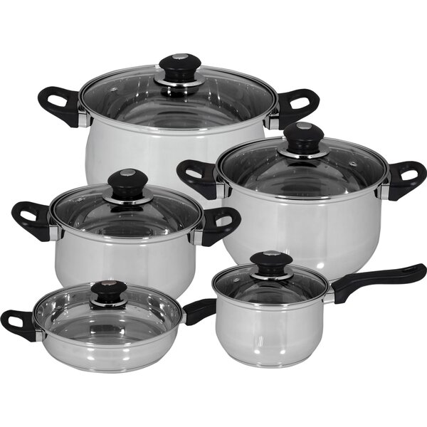 10 Piece Family Stainless Steel Cookware Set by Magefesa