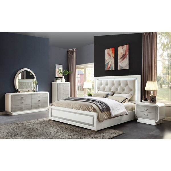 Severus Upholstered Standard Bed by Rosdorf Park