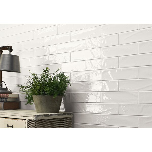 Mason 3 x 12 Ceramic Subway Tile in Pure White Glossy by Walkon Tile