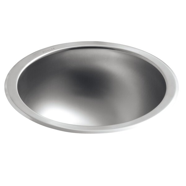 Bolero Metal Circular Dual Mount Bathroom Sink by