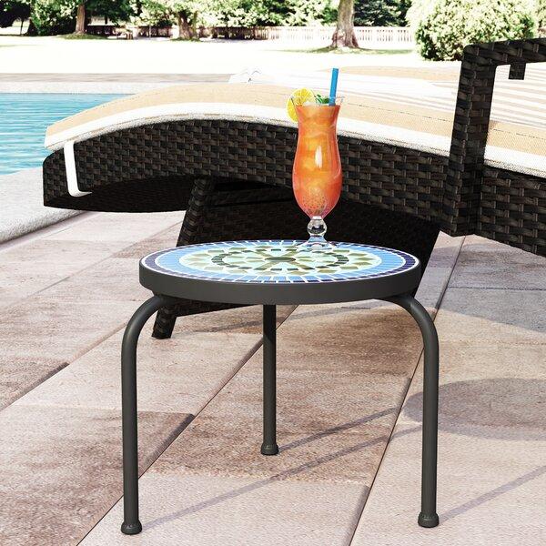 Sebago Stone/Concrete Side Table by Charlton Home