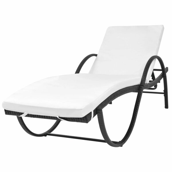 Villareal Sun Lounger Set with Cushions and Table by Highland Dunes Highland Dunes
