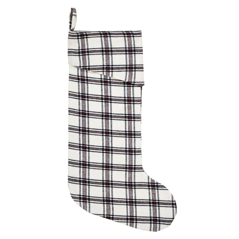 Cody Plaid Stocking. Holiday decor inspiration with plaid, checks, and tartans! Come be inspired by this classic pattern for Christmas decorating. #plaid #christmasdecor #holidayinspiration #checks #decorating #inspiration