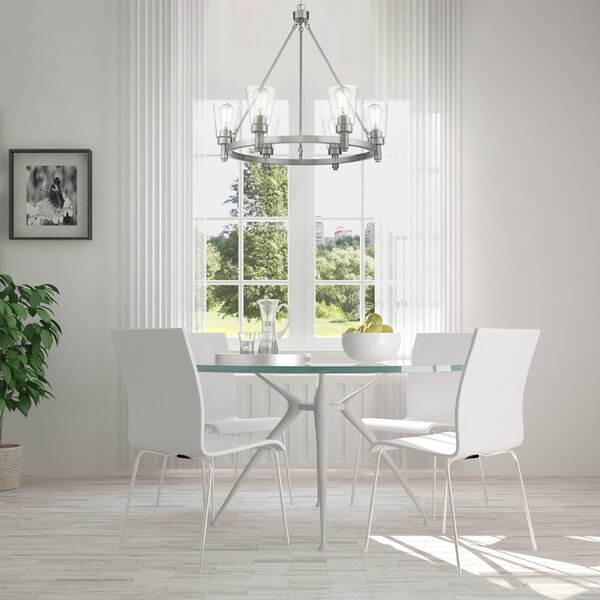 6 - Light Shaded Tiered Chandelier By Ove Decors