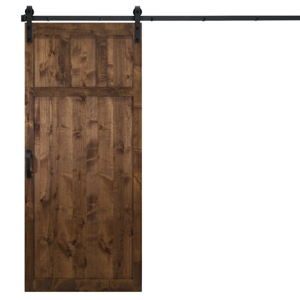 Craftsman Solid Panel Wood Slab Interior Barn Door