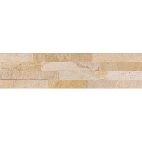 Canyon Ledger 6 x 24 Porcelain Field Tile in Beige by MSI