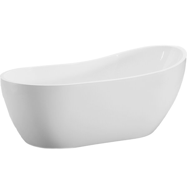 54 x 29 Freestanding Soaking Bathtub by WoodBridge