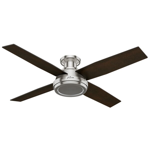 52 Dempsey 4-Blade Ceiling Fan with Remote by Hunt