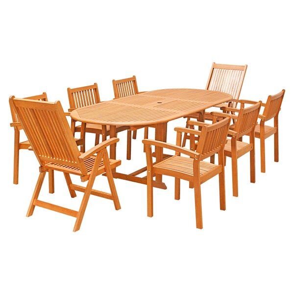 Orinda 9-Piece Dining Set by Rosecliff Heights