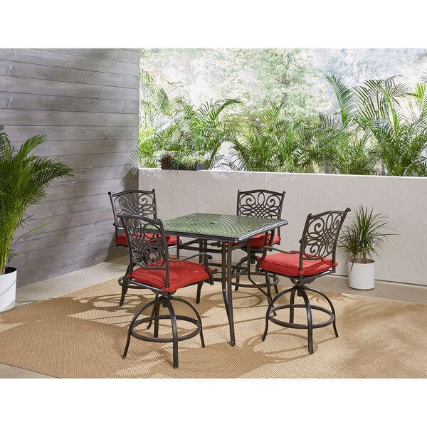 Ricci Traditions 5 Piece Bar Height Dining Set by Astoria Grand