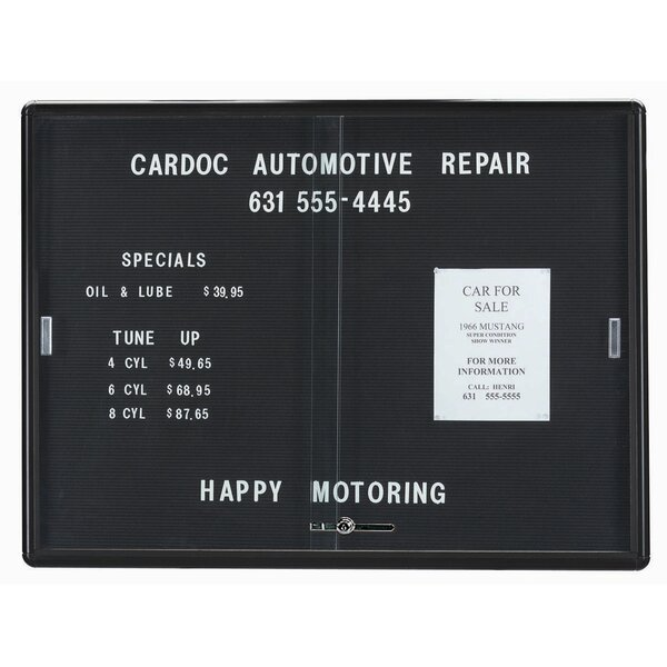 Design Directory Changeable Enclosed Wall Mounted Letter Board by AARCO| @ $394.99