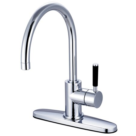 Kaiser Single Handle Kitchen Faucet by Kingston Brass