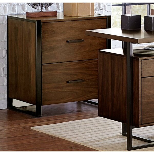 Lillian Wood/Metal 2 Drawer Accent Chest by Foundry Select