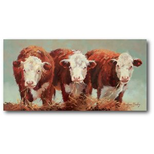 Three of a Kind Painting Print on Canvas by Courtside Market