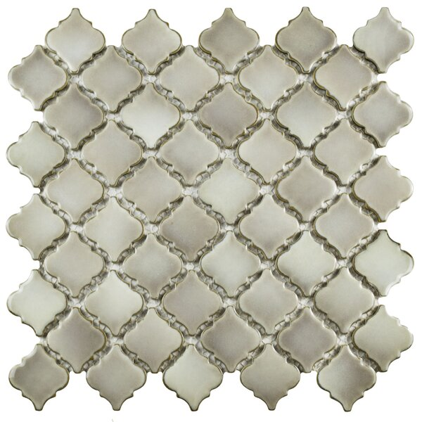 Pharsalia 2 x 2.25 Porcelain Mosaic Tile in Dove by EliteTile