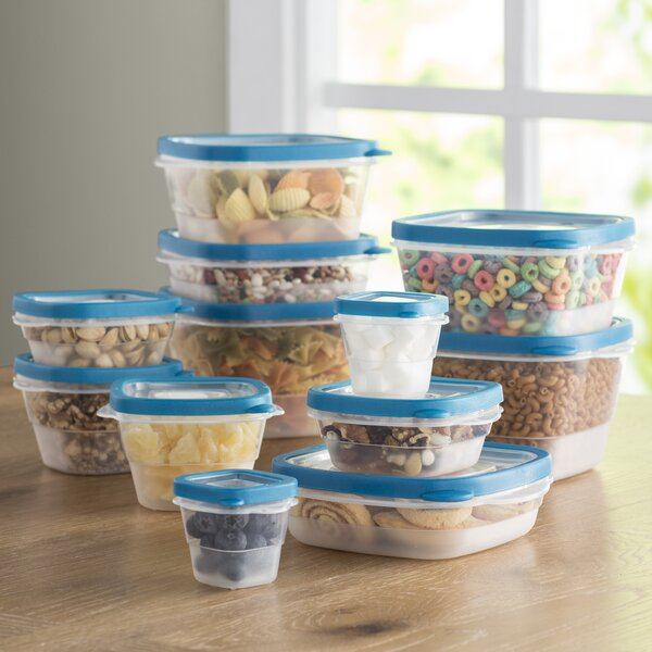 Wayfair Basics Plastic 12 Container Food Storage Set by Wayfair Basics™