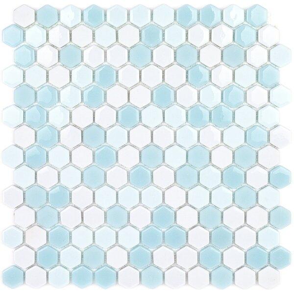 Recoup 11.5 x 12 Glass Mosaic Tile in Glacier by Splashback Tile