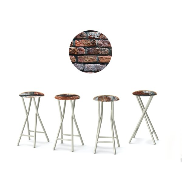 London Brick 30'' Patio Bar Stool with Cushion (Set of 4) by Best of Times