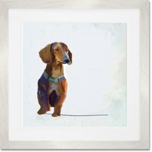 'Best Friend - Dachshund' by Cathy Walters Framed Painting Print by GreenBox Art