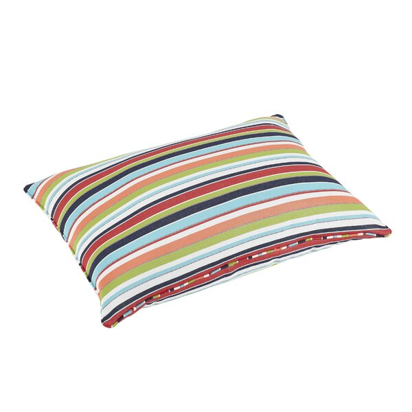 Stewart Stripe Piped Indoor/Outdoor Sunbrella Floor Pillow by Rosecliff Heights