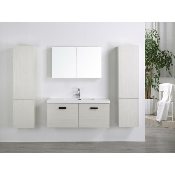 47 Wall-Mounted Single Bathroom Vanity Set with Mirror by Streamline Bath