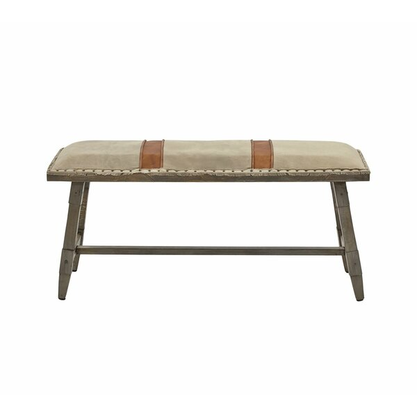 Baretta Faux Leather Bench by Foundry Select